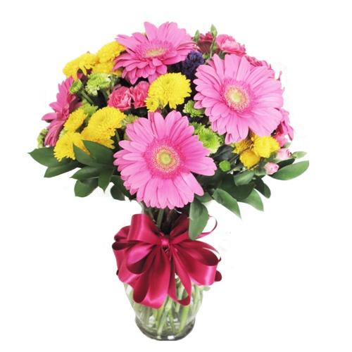 Arreglo Floral con 6 Gerberas