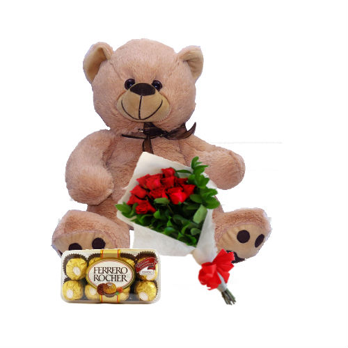 Rosas, Oso y Chocolates