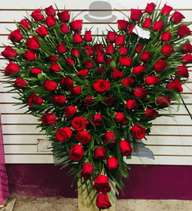 101 rosas rojas corazon